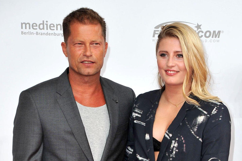 Til Schweiger mit seiner jüngsten Tochter Emma Schweiger