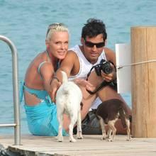 Brigitte Nielsen und ihr Eheman Mattia Dessi