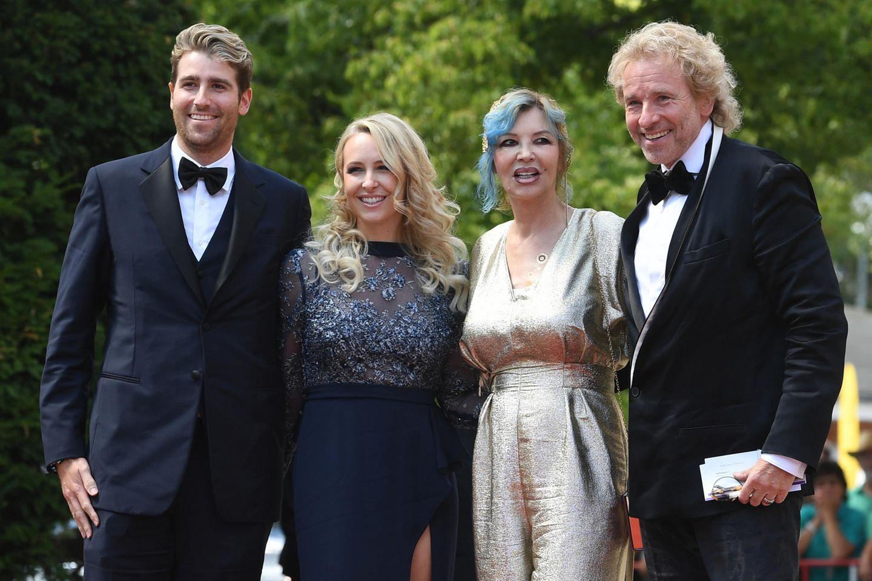 Roman Gottschalk mit EhefrauMelissa, Thea und Thomas Gottschalk