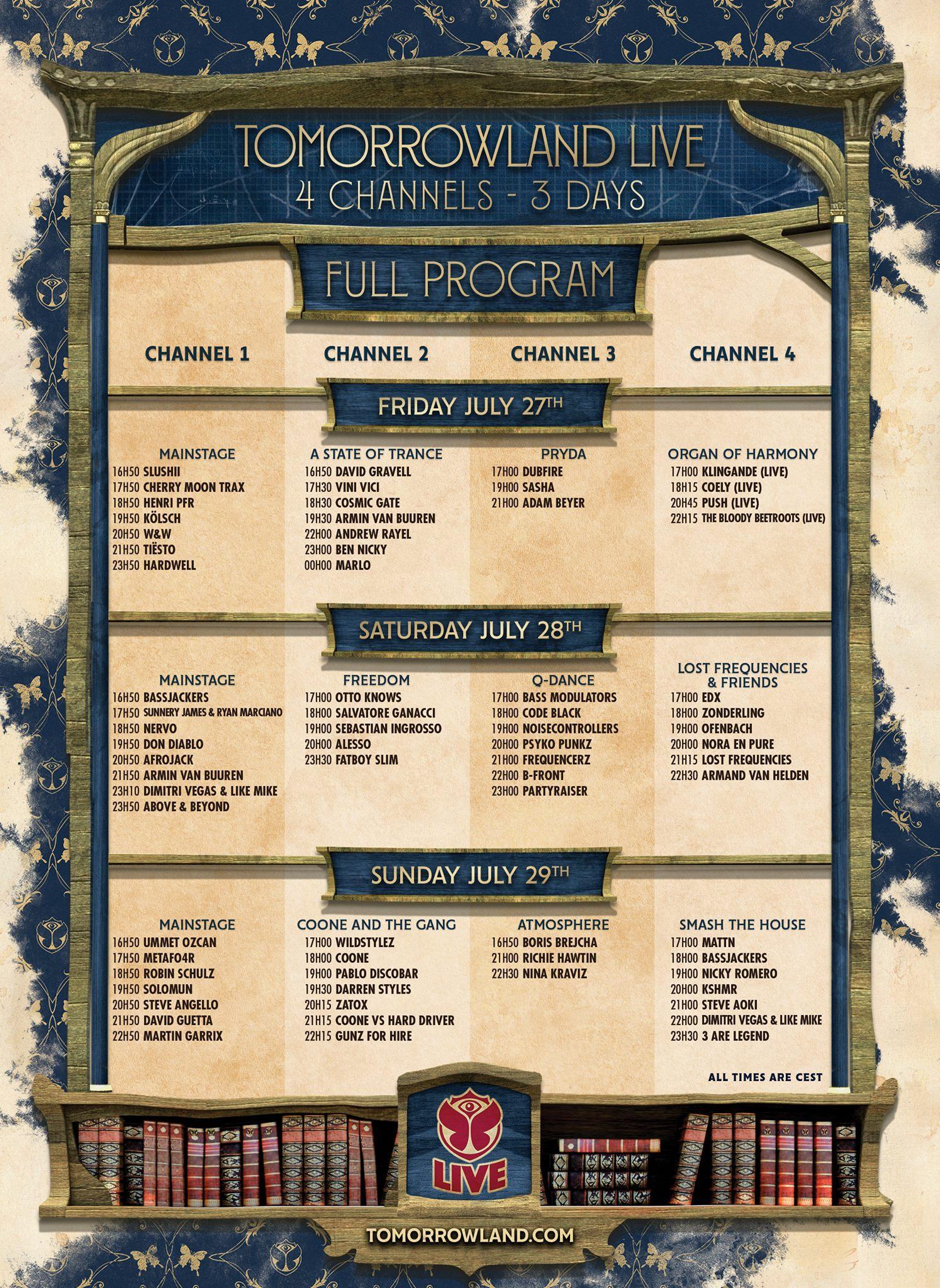 Am zweiten Wochenende erwarten Sie mehr als 70 DJs im Livestream vom Tomorrowland. Klicken Sie auf das Bild für eine größere Ansicht