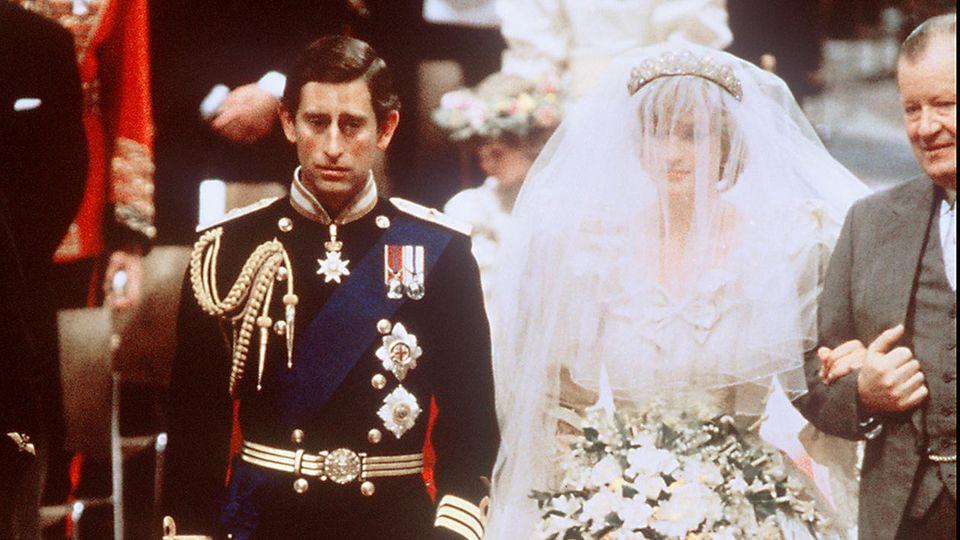 Prinz Charles und Prinzessin Diana heirateten am 29. Juli 1981 in der Londoner St. Paul's Cathedrale