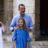 29. Juli 2018  König Felipe albert mit seiner TochterPrinzessin Leonor herum.