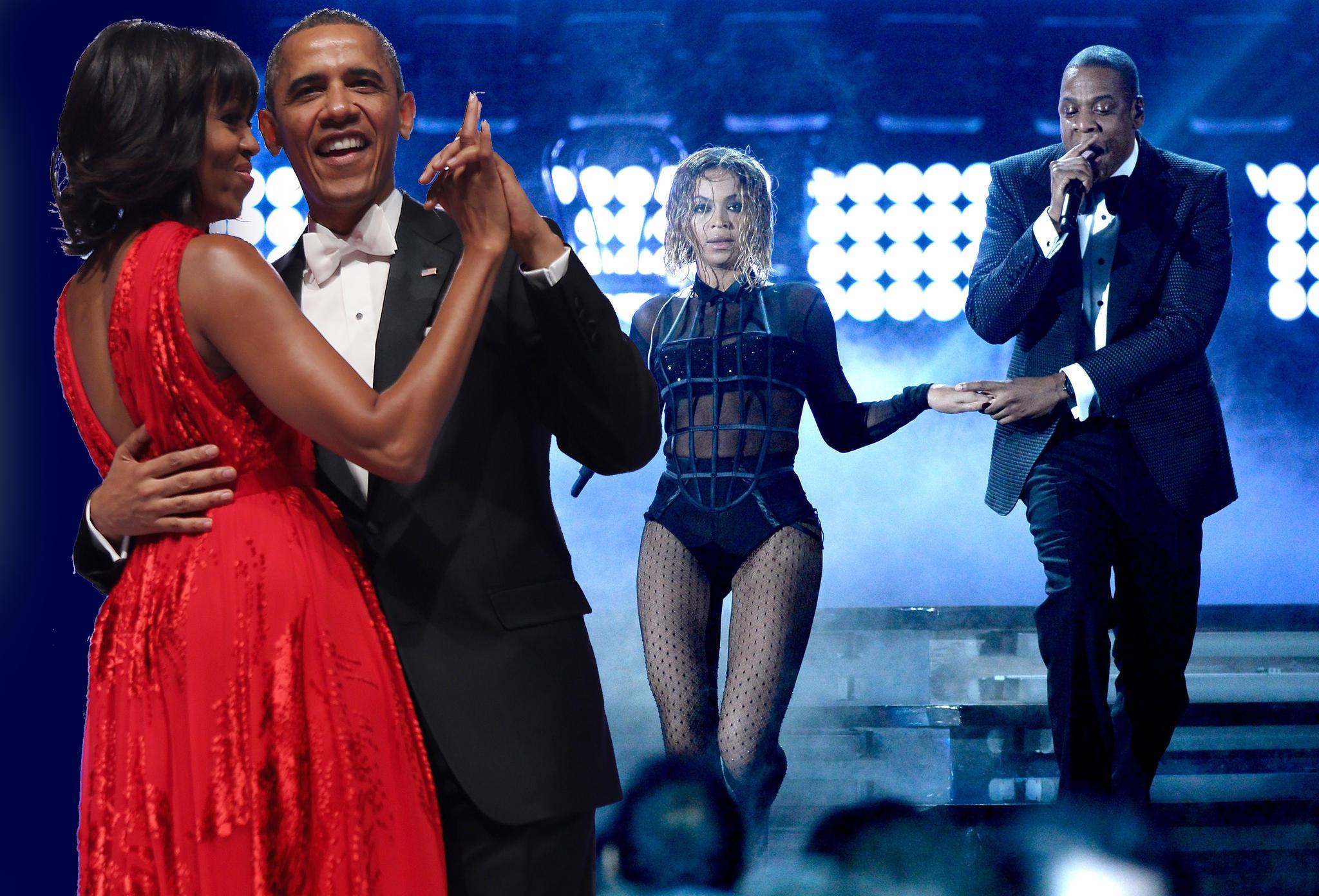 Michelle Obama, Barack Obama, Beyoncé, Jay-Z