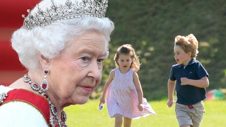 Queen Elizabeth, Prinzessin Charlotte, Prinz George