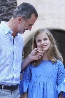 König Felipe mit Tochter Leonor