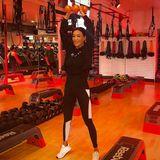 In einem Fitnessstudio in Los Angeles gibt Verona Pooth alles.