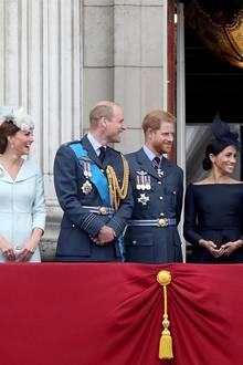 Herzogin Catherine, Prinz William, Prinz Harry und Herzogin Meghan (v.l.n.r.) begeistern die Welt