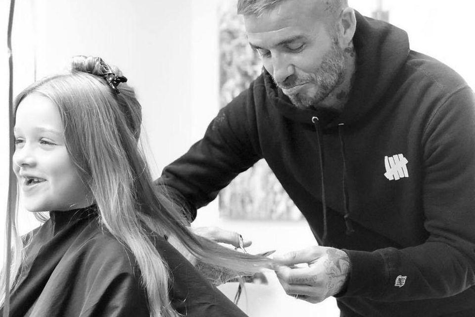 David Beckham will Harpers Haare nicht schneiden