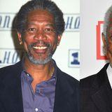 Schief und krumm sind die Schneidezähne von Schauspieler Morgan Freemann, bevor der Schauspieler sich seine Beißerchen richten lässt.