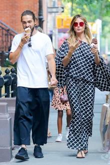3. Juli 2018  Mmmmh lecker. HeidiKlum und Tom genießen ein Eis im sommerlichen New York.