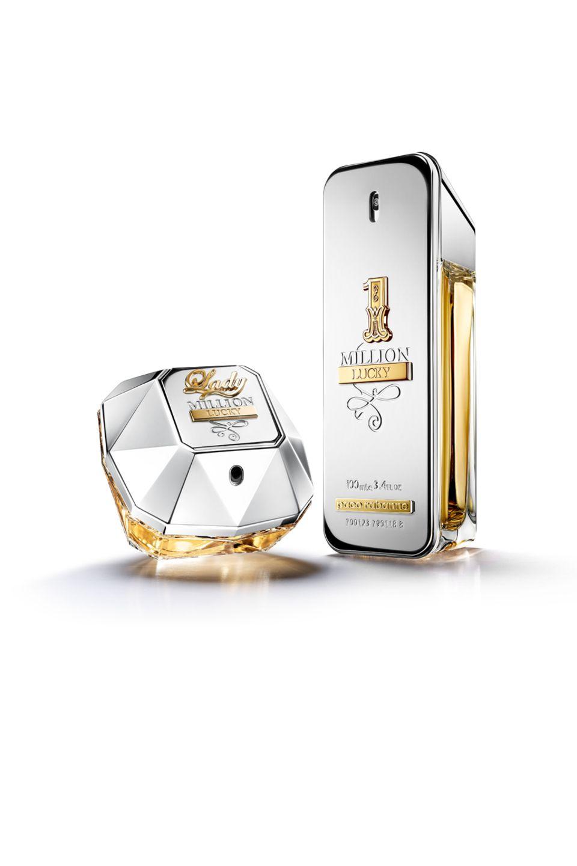 """Absolut lucky macht uns das neue dufte Duo """"1 MillionLucky und Lady MillionLucky"""". Mit """"1 Million Lucky"""" präsentiert Paco Rabanne eine neue Definition von Glück und das optisch legendäre Goldgewand bekommt ein Upgrade: Platin. Sowohl der Damenduft, als auch der Herrenduft überzeugen vor allem mit sinnlichen Noten. """"Lady Million Lucky"""" ab ca. 56 Euro/30 ml, """"1 Million Lucky"""" ab 66 Euro/50 ml."""