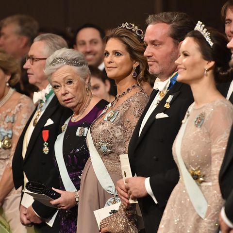 Die schwedischen Royals: Prinzessin Christina, Prinzessin Madeleine, Chris O'Neill und Prinzessin Sofia (v.l.n.r.)