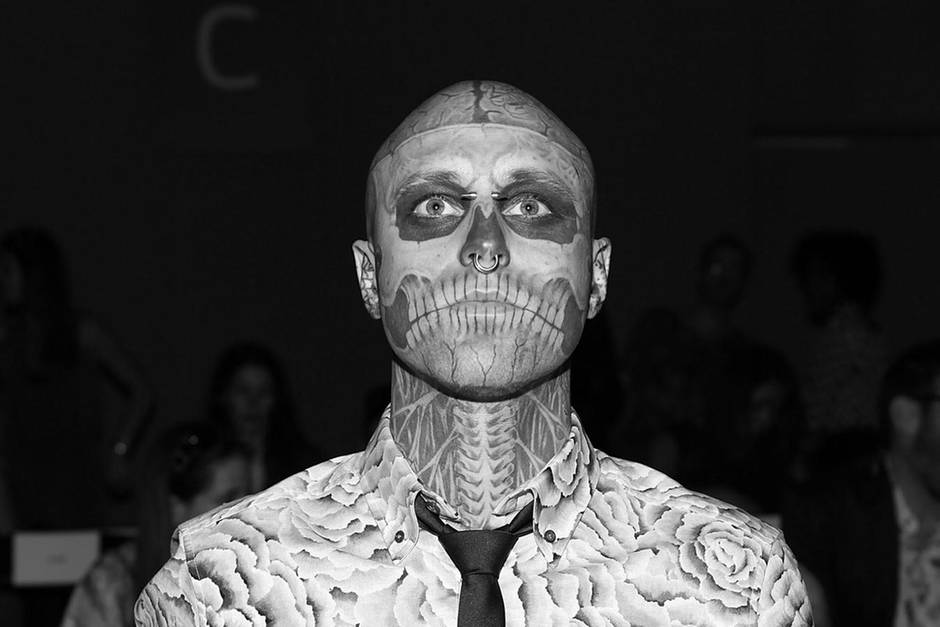 Rick Genest, besser bekannt als Zombie Boy, starb im August 2018