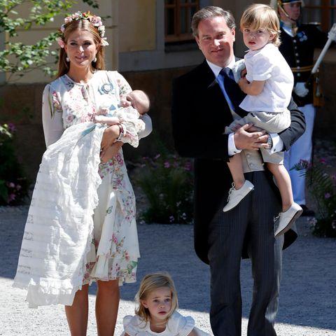 Prinzessin Madeleineund Chris O'Neill mit den Kindern Prinzessin Leonore, Prinz Nicolas und Prinzessin Adrienne