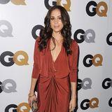 In stylischem Rostrot feierte Meghan Markle bei der GQ-MOTY-Party in Los Angeles.
