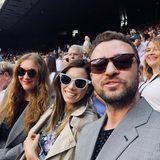 10. Juli 2018  Justin Timberlake und Jessica besuchen das Wimbledon Tennisturnier und schießen ein Selfie.
