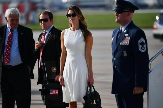 Hope Hicks am 4. August auf dem Flughafen von Columbus, Ohio.