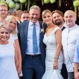 4. August 2018  In einem schlichten weißen Kleid tritt Joanna Krupa vor den Traualtar. Die Ehe mit Douglas Nunes ist für das polnische Model Anlauf Nummer zwei. Von 2013-2017 war Joanna Krupa mit Romain Zago verheiratet.