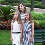 Elegant maritim zeigten sich Königin Letizia und ihre Prinzessinnen im Sommer 2016 auf Mallorca.