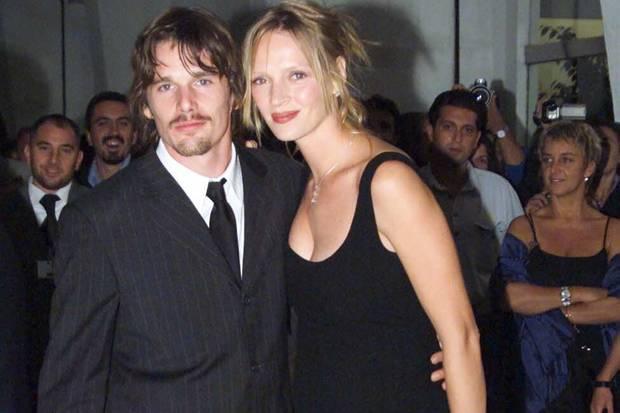 Ethan Hawke und Ex-Frau Uma Thurman 2001
