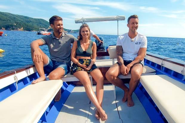 Nadine beim Doppeldate mit Daniel (l.) und Chris