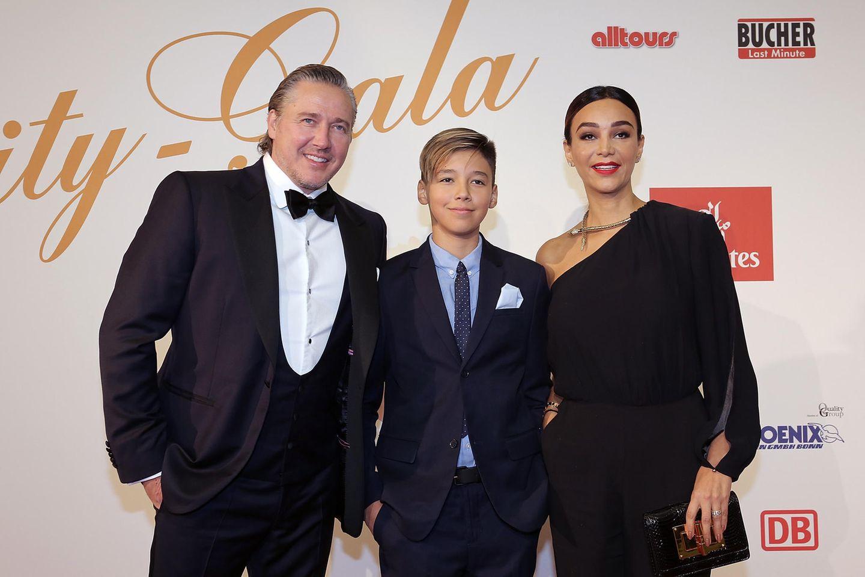 Verona Pooth mit Ehemann Franjo und Sohn Diego