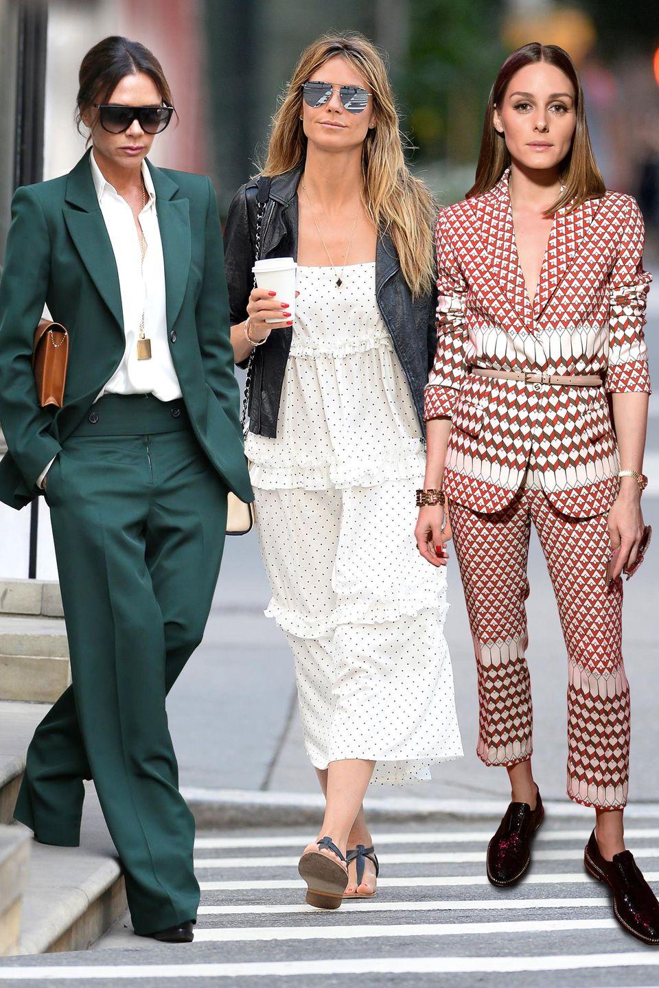 Victoria Beckham, Heidi Klum undOlivia Palermo