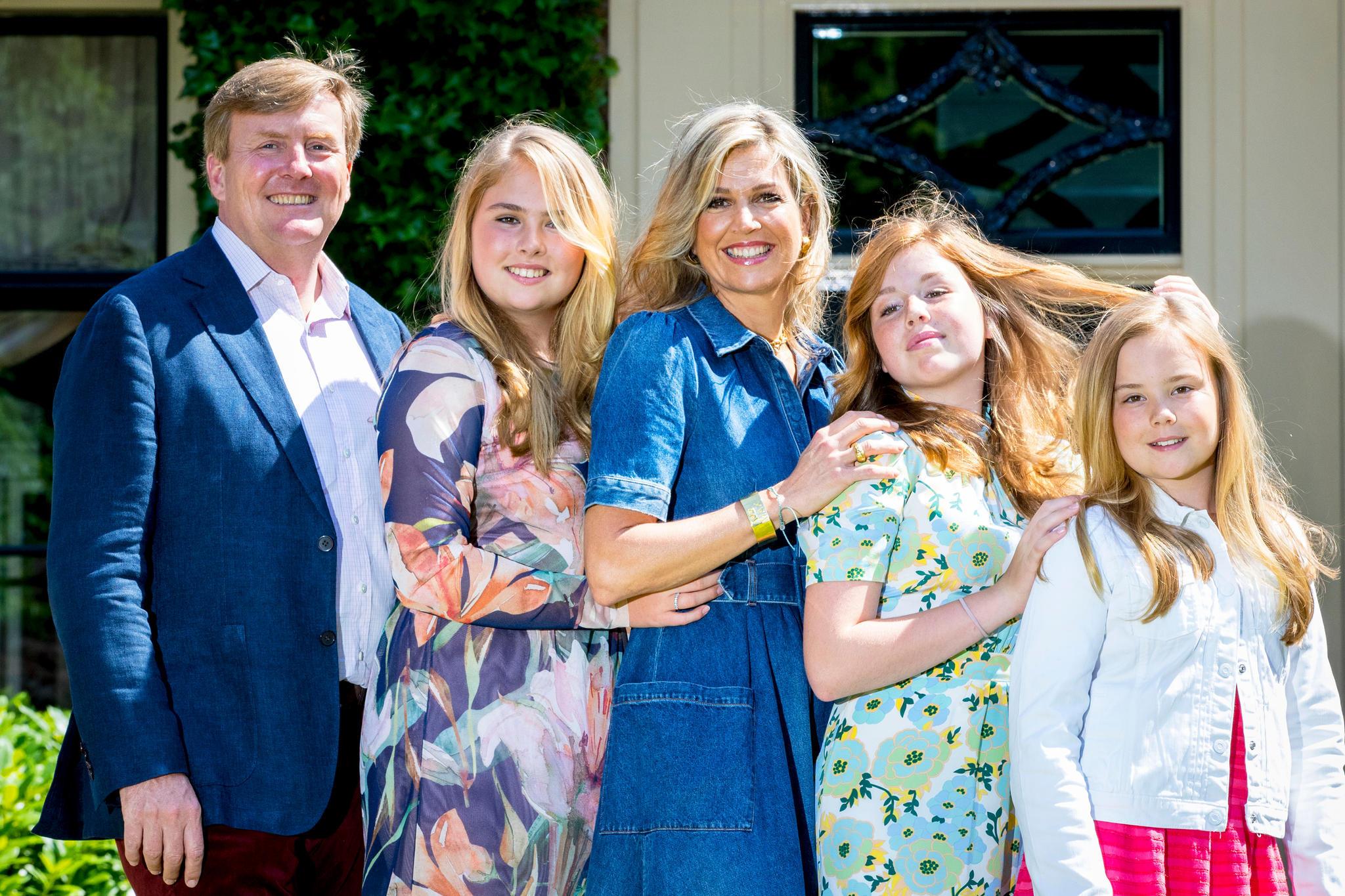 König Willem-Alexander, Prinzessin Amalia, Königin Máxima, Prinzessin Alexia und Prinzessin Ariane