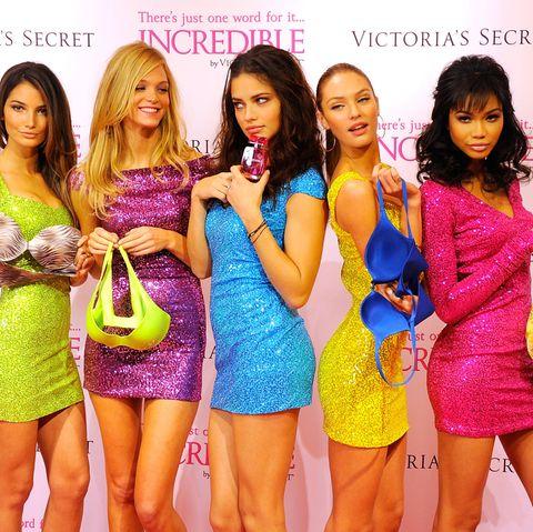 Lily Aldridge, Erin Heatherton, Adriana Lima, Candice Swanepoel, undChanel Iman