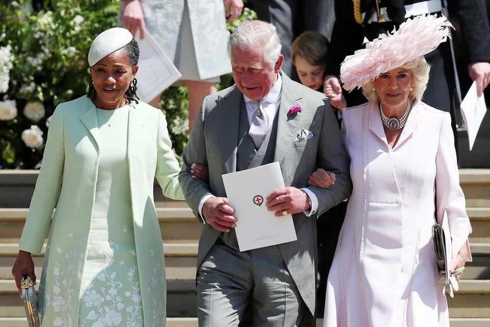Doria Ragland mit Prinz Charles und Herzogin Camilla bei der Hochzeit im Mai
