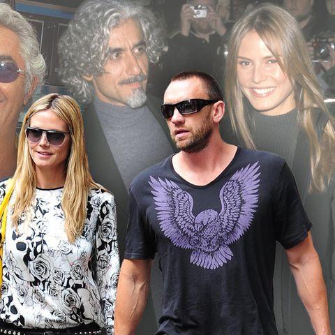 Heidi Klum und ihre Männer: v.l.n.r. Flavio Briatore, Ric Pipino, Martin Kirsten