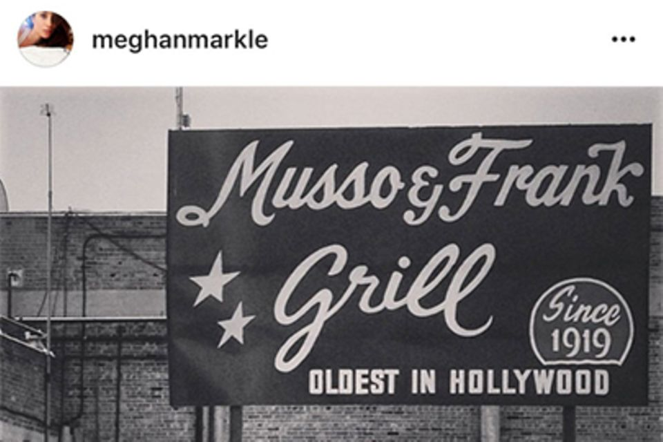 """Meghan Markle bei """"Musso & Frank Grill"""""""