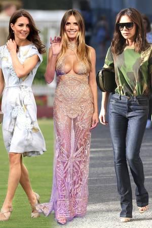 Herzogin Meghan, Heidi Klum + Victoria Beckham