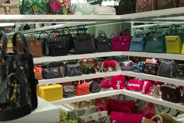 Luxus pur! Die Taschensammlung der 21-jährigen Kylie Jenner kann sich sehen lassen.