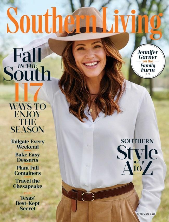 """Jennifer Garner auf dem Titel des """"Southern Living"""" Magazins"""