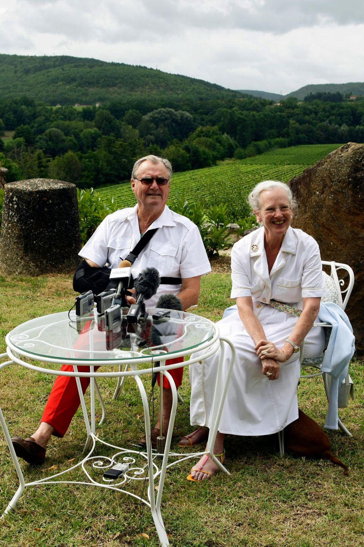 Prinz Henrik und Königin Margrethe 2008 auf Schloss Cayx. Das Paar verbrachte dort viele Sommer.