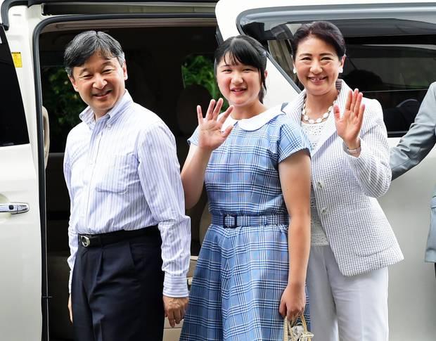 16. August 2018  Japans Kronprinzenfamilie macht Urlaub in der japanischen Seehafen-Stadt Shimoda ...