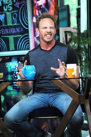 """17. August 2018  Schauspieler Ian Ziering stellt sich in New York den Fragen zu dem Film """"Sharknado 6""""."""