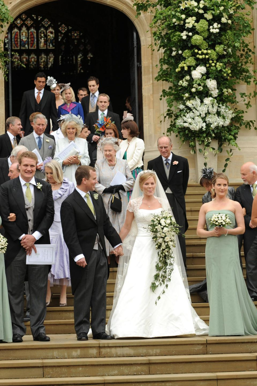 Die Hochzeit von Peter Phillips und Autumn Kelly besuchte Kate damals allein.
