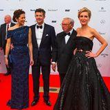 Wer glänzt bei der Bambi-Verleihung 2014 in Berlin schöner: Prinzessin Mary von Dänemark in Blau oder Maria Furtwängler in Schwarz? Wir können uns nicht entscheiden!