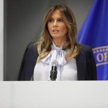 Melania Trump bei ihrer Rede zum Thema Cyber-Mobbing am 20. August 2018