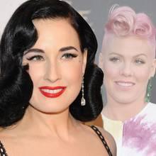 Bourlesque-Star Dita Von Teese und Sängerin Pink lieben den Rockabilly-Look.
