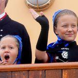 23. August 2018  Prinzessin Isabella ist bei der Ankunft auf denFäröer Inseln sehr müde.