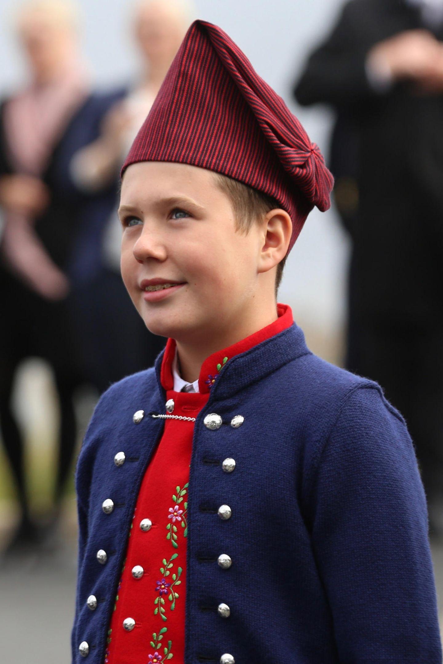 23. August 2018  Prinz Christian im traditionellen Trachten-Look.