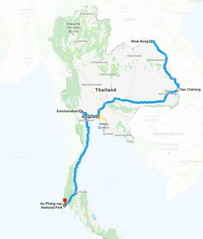 Global Gladiators 2018 Route Thailand