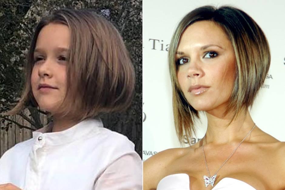 Victoria Beckham Tochter Harper Trägt Die Haare Wie Mama Galade