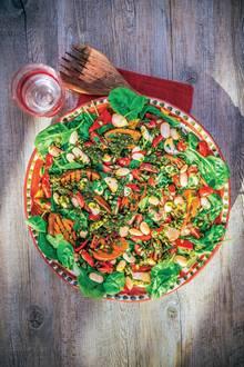 Gebratener Kürbis mit Salsa verde