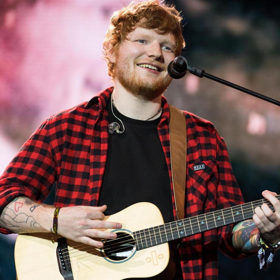 Sänger Ed Sheeran hat allen Grund zu strahlen