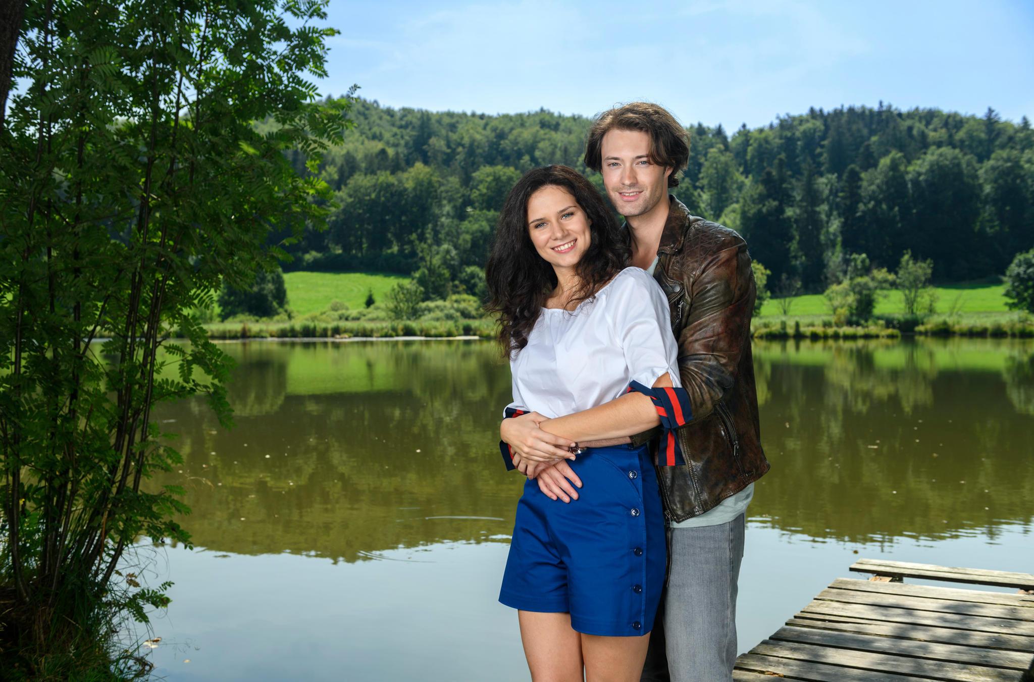 """Neue Hauptdarsteller bei """"Sturm der Liebe"""": Helen Barke alias Denise Saalfeld und Julian Schneider alias Joshua Winter"""
