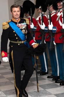28. August 2018  Am Abend beim offiziellen Staatsbanketterscheinen Kronprinz Frederik und Kronprinzessin Mary in festlichen Roben.